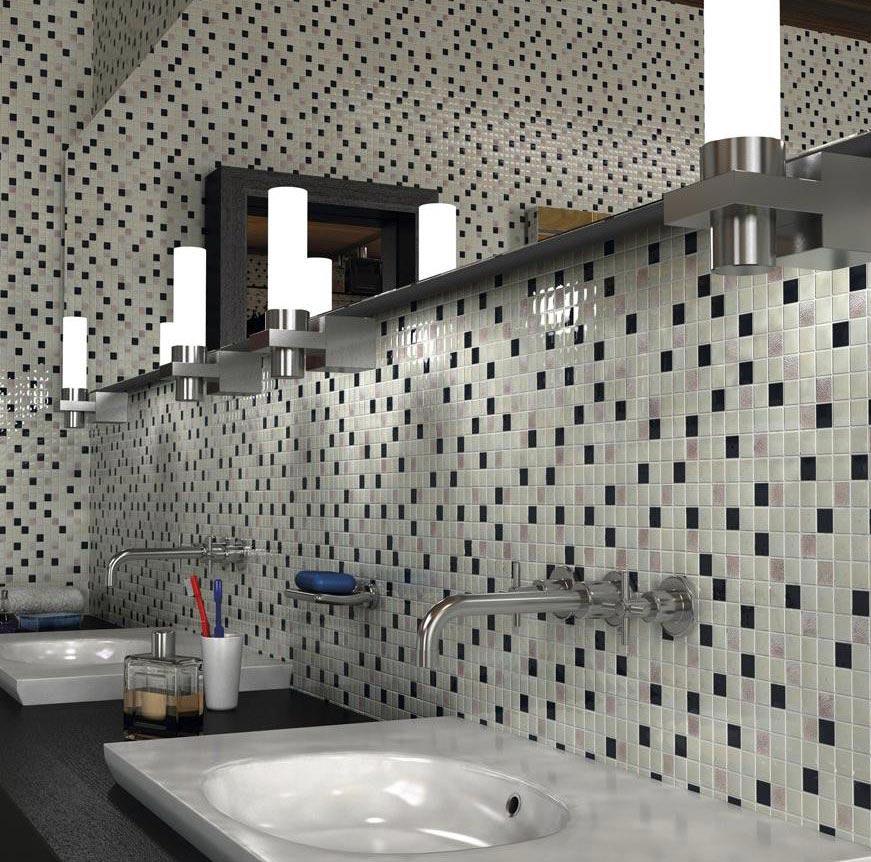 отделка ванной комнаты мозаичной плиткой фото дизайн