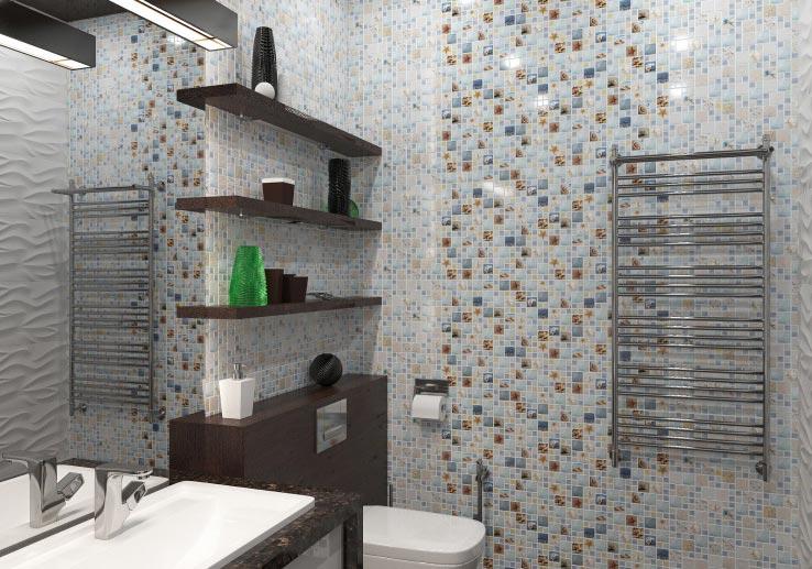 мозаика из пластика для ванной