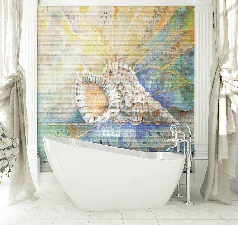 панно из мозаики в ванную