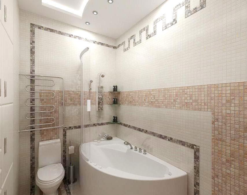 маленькая ванна мозаика