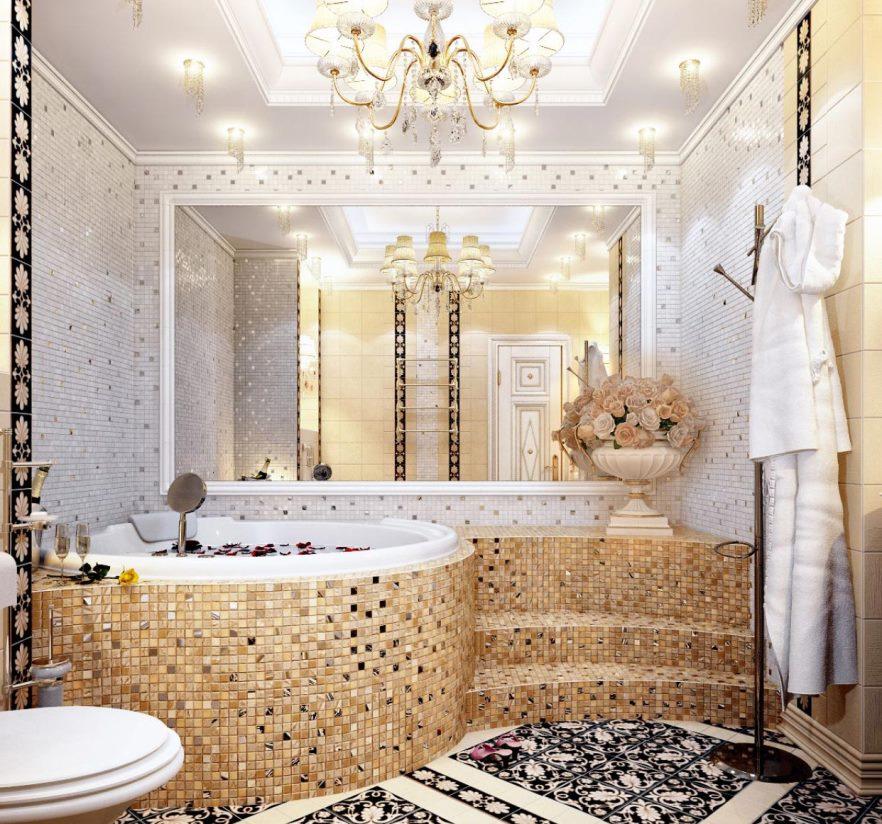 панели мозаика для ванной комнаты