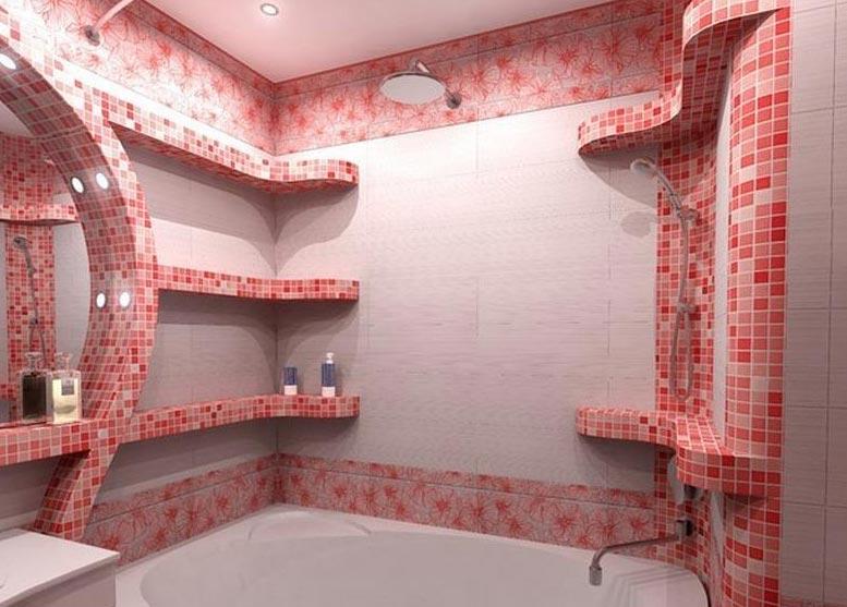 мозаика в ванной комнате фото