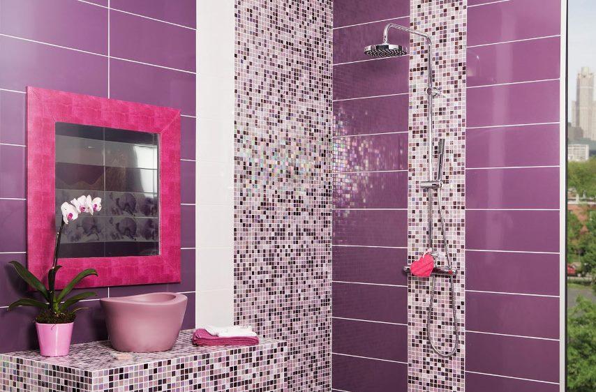 облицовка ванной мозаичной плиткой
